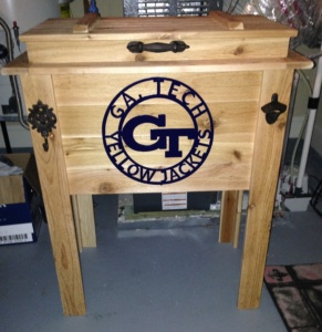 rustic-wooden-cooler-stand