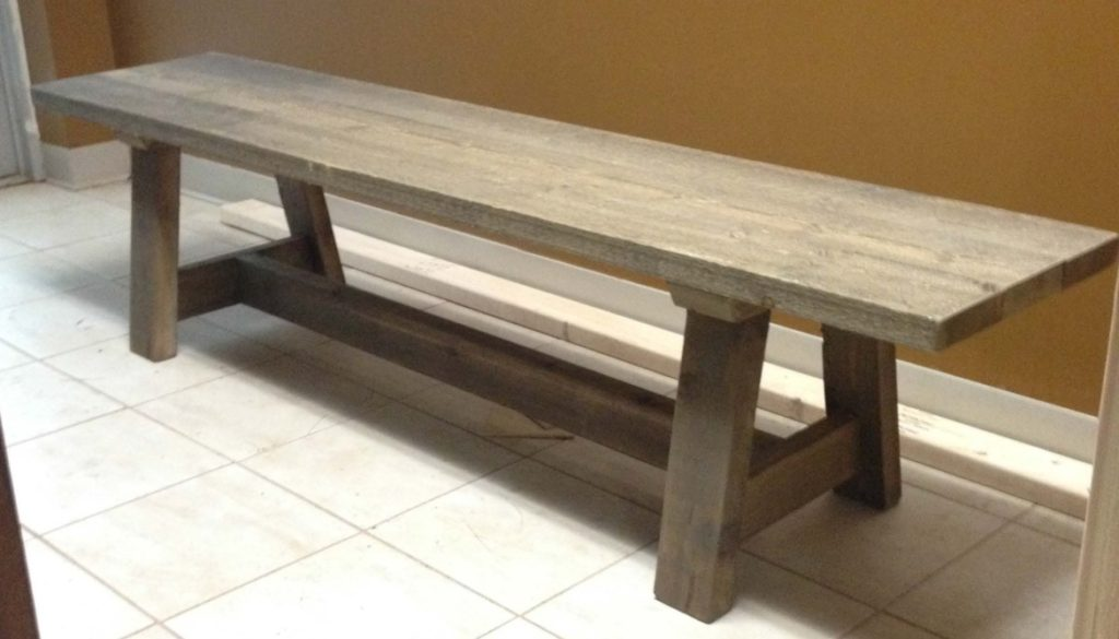 Angled-Trestle-legs-bench