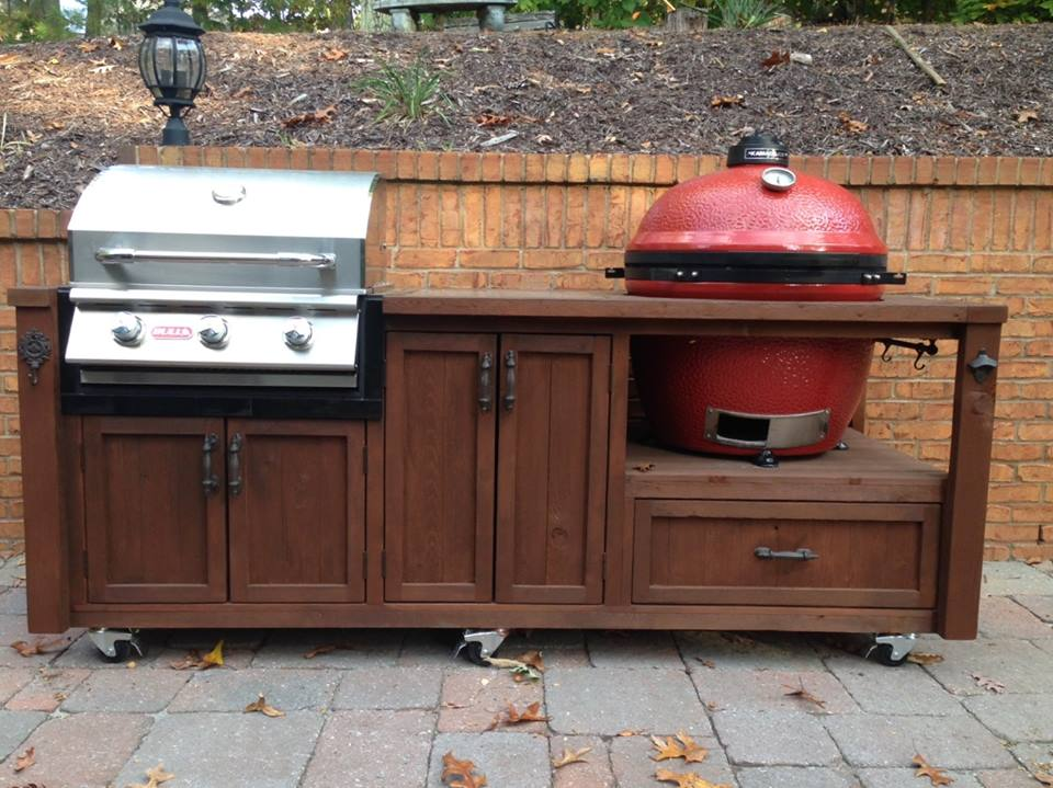 Dual Grill 2 25 Quot 26 Quot Gas Xl Big Joe Ceramic Rustic Woodworx