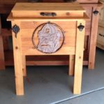 light-cedar-wood-cooler-box-team-logo-georgia-bulldogs
