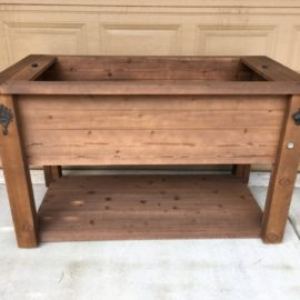 Rustic Wood Cooler Stand