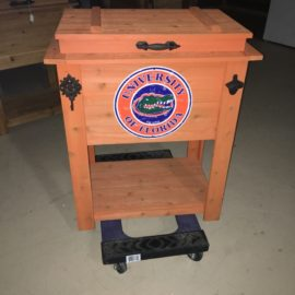 Wood Cooler With Towel Hook And Bottle Opener