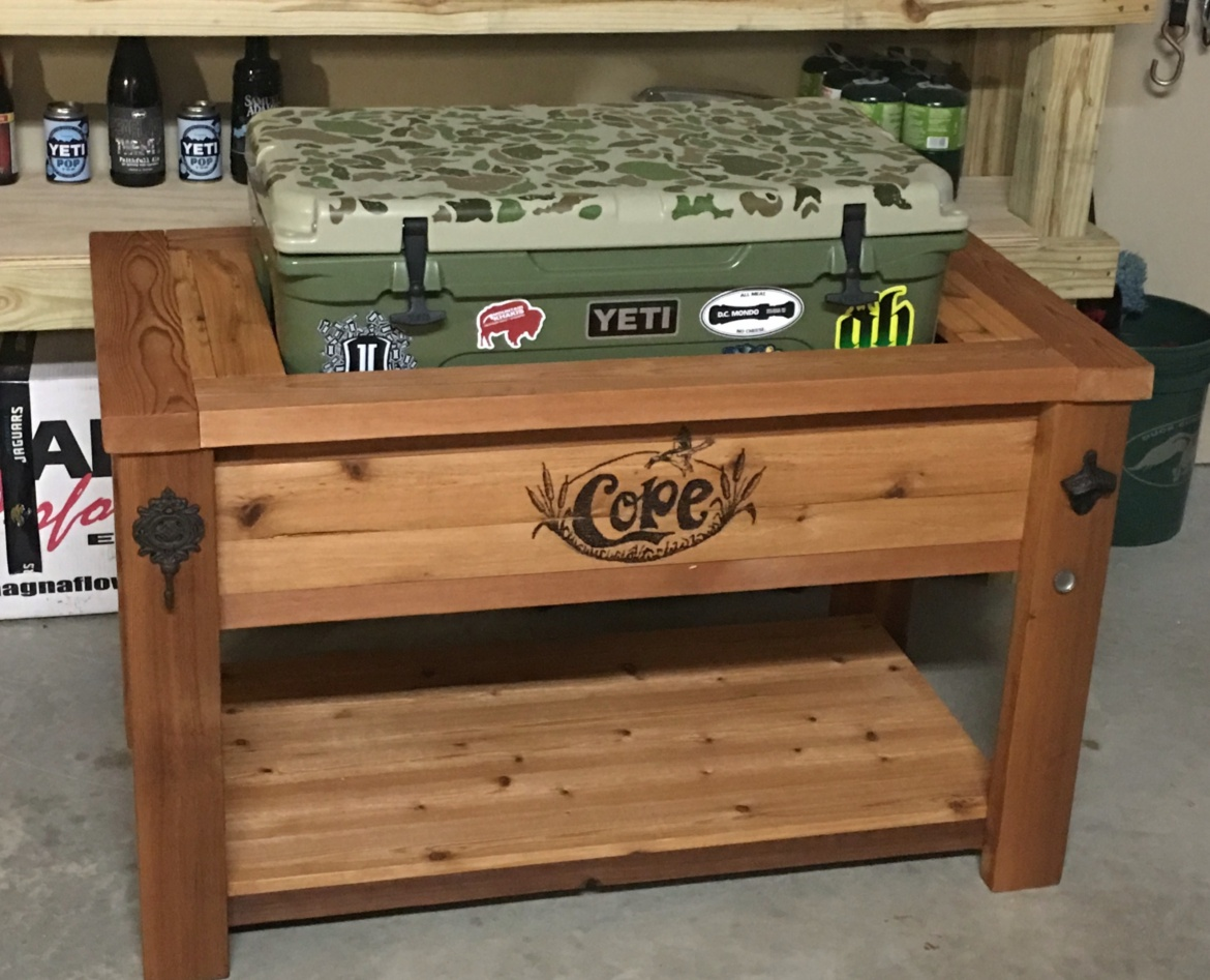 Yeti Cooler Stand Rustic Woodworx